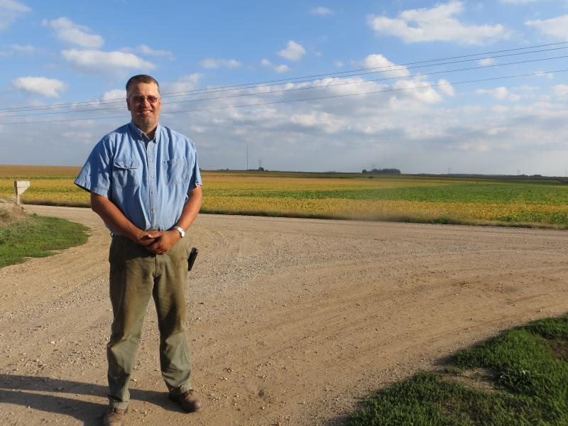 In O'Brien County, Jay Hofland has agreed to sell part of his farm to Clean Line for a converter station, which would become the beginning of a high voltage, direct current transmission line traversing the state.