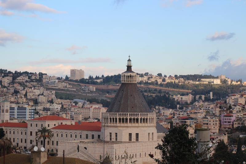 Pictured above is modern-day Nazareth.  The man who would one day be worshipped as Jesus Christ was born in Nazareth around 7-2 B.C., which at the time was a small mountain village.