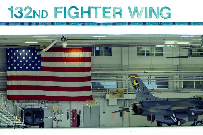The unit's hanger during the F16 era (2013)