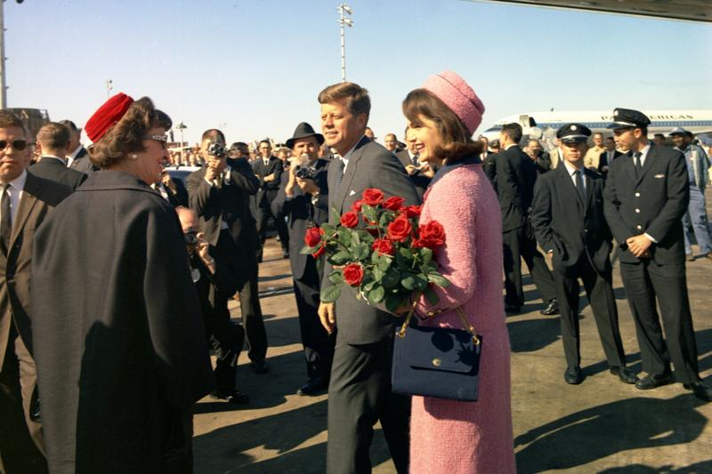 President and Mrs. Kennedy arrive at Love Field in Dallas, TX, 22 November 1963