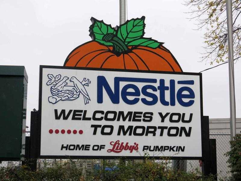 "Food giant Nestle owns the Libby's Pumpkin label. Located in Morton, Ill., it's the biggest reason why locals call Morton the ""Pumpkin Capital of the World."""