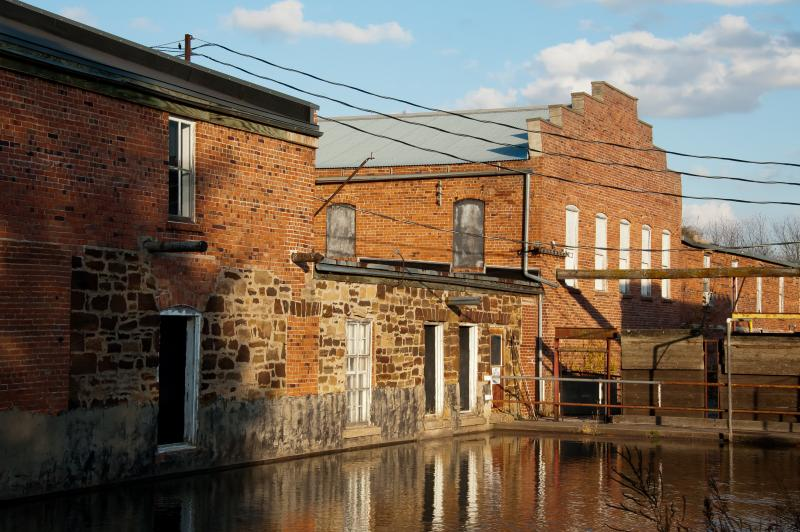The mill race in Main Amana.