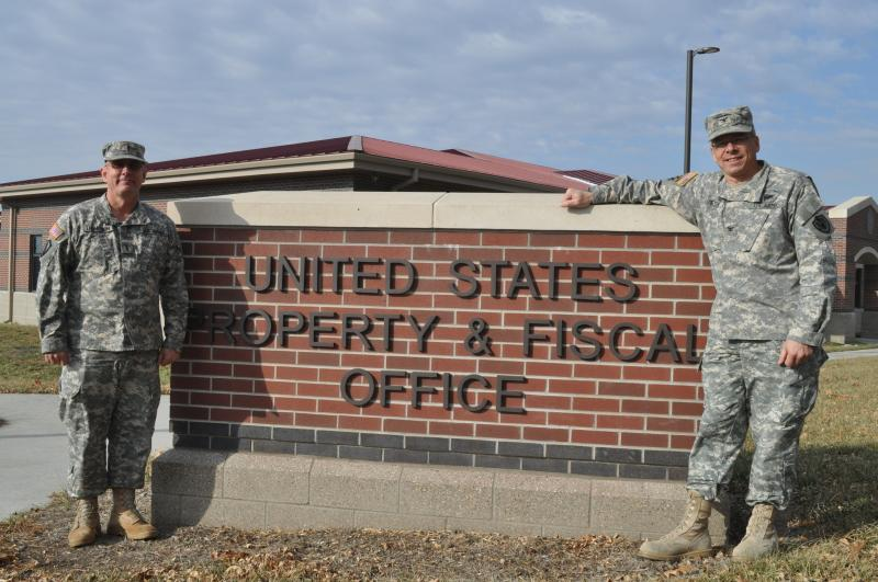 CW4 Mark Thompson and Colonel Allen Meyer, of the US Property and Fiscal Office at the Iowa National Guard.