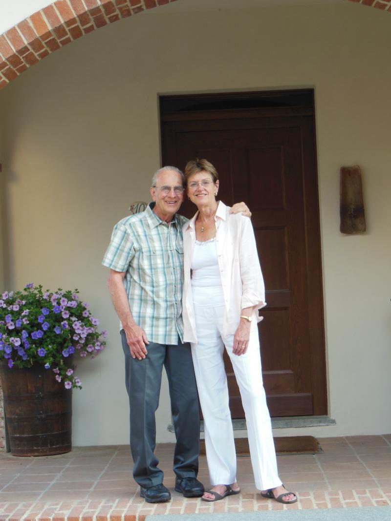 Husband and wife James Autry and Former Iowa Lt. Gov. Sally Pederson in Piedmont, Italy in the summer of 2012.
