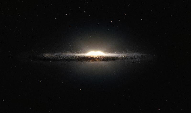 An artist's impression of how the Milky Way galaxy would look from its side