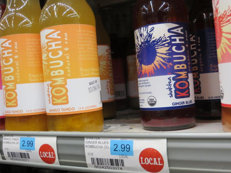 Shaktea Kombucha stocked at Everybody's Whole Foods in Fairfield.