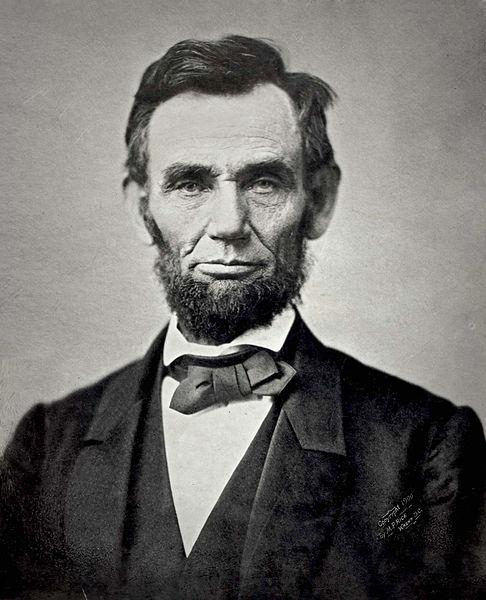 Abraham Lincoln, 16th president of the United States, in1863.