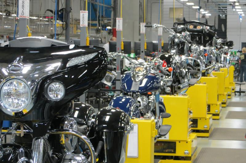 2014 models come off the assembly line in Spirit Lake.