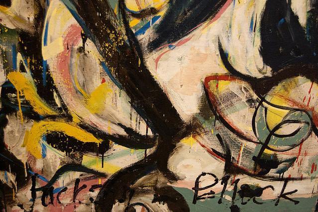 Detail of Jackson Pollock's 'Mural'