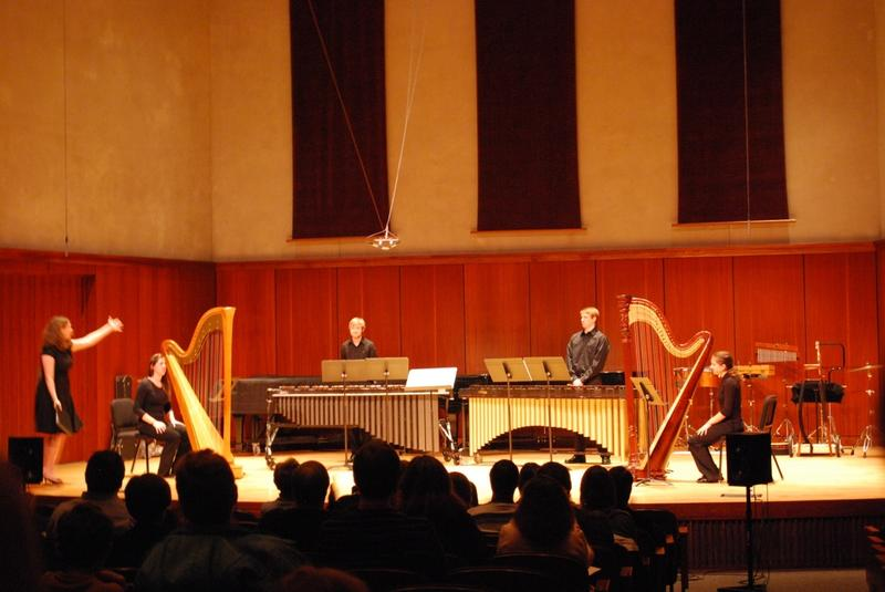 ICF Winter Festival February 2012. Luther College students performing works by Iowa Composer Forum members.