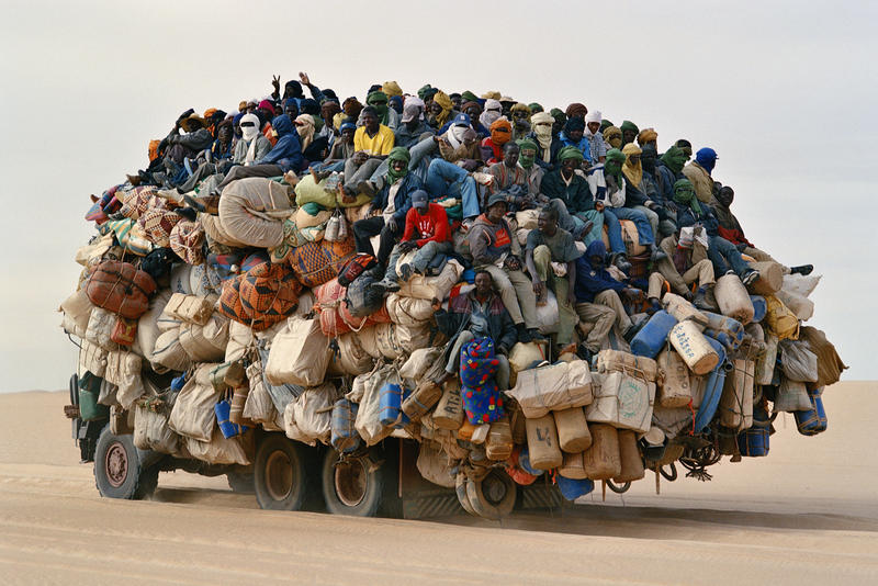 Transport in the Sahel, Africa, where population is rapidly growing