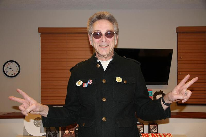 "Bob Dorr's Beatle ""military"" coat from 1969, with a couple of the cut-out buttons that came inside the original issuance of Sergeant Pepper's Lonely Hearts Club Band"