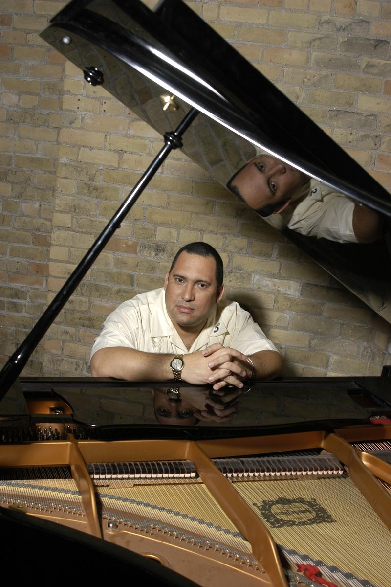 Cuban jazz pianist, Nachito Herrera, performs as the guest artist for University of Northern Iowa's 2014 Tallcorn Jazz Festival.
