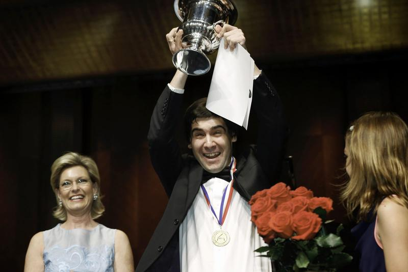 Vadym Kholodenko, 2013 Gold-medalist winner of the Van-Cliburn piano competition, takes the stage of the Gallgher-Bluedorn Performing Arts Center.