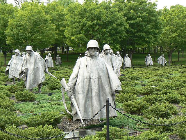 The Korean War Veterans Memorial, May 1, 2008.