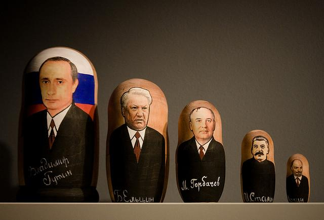 Putin depicted on a Russian doll