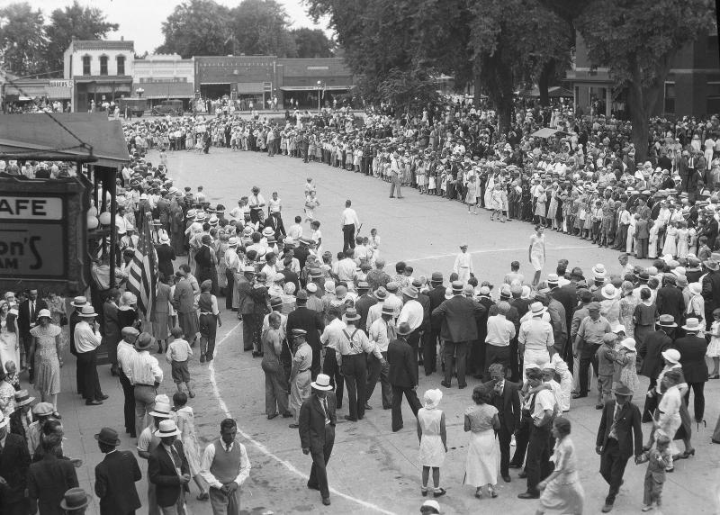 Greenfield's Fourth of July watermelon run race, 1932.