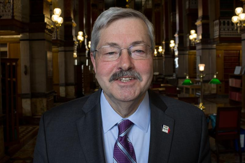 Governor Terry Branstad at the Statehouse.