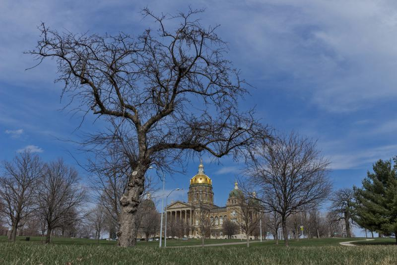A view of the Statehouse.