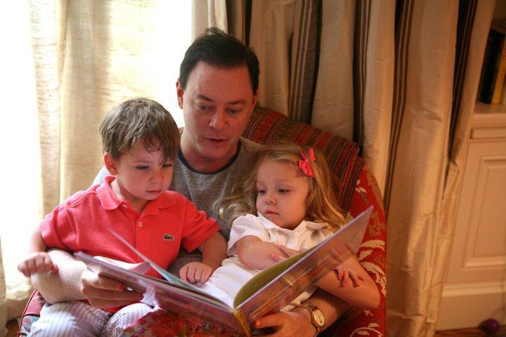 Andrew Solomon with his family