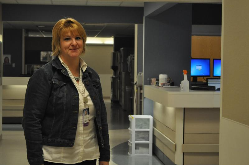 Case Manager Sallie Selfridge stands in the Emergency Department at St. Luke's Hospital. 390 patients are now enrolled in the hospital's Emergency Department Consistent Care Program.