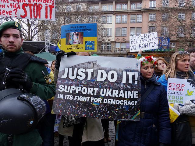 A Ukrainian protest, February 2014