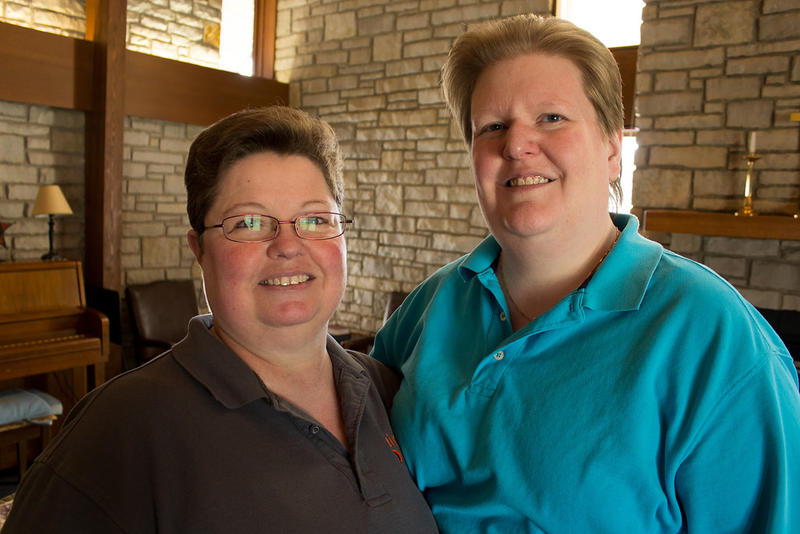 Trish (left) and Kate (right) Varnum live in Cedar Rapids. Kate was the lead plaintiff in the Supreme Court Case that paved the way for same-sex marriage in Iowa.