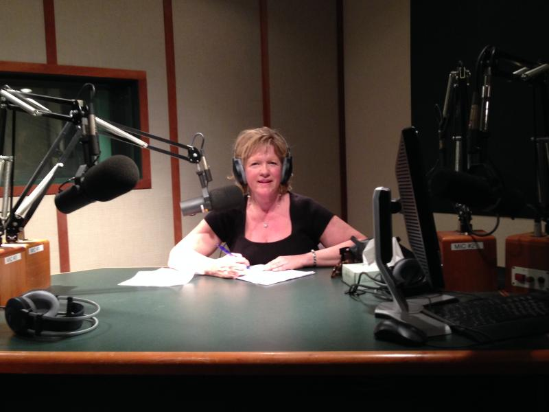 Catherine Noble in Iowa Public Radio's Ames studio