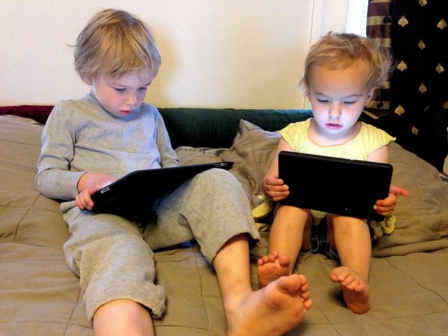 The National Institutes of Health recommends that kids should be limited to two hours a day to screen time.