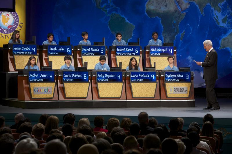Top 10 finalists from last year's National Geographic Bee