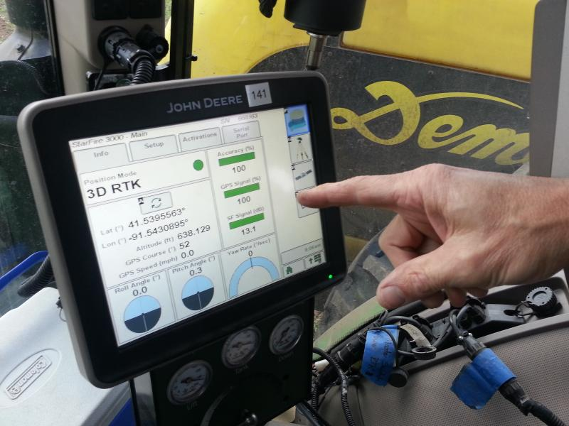 GPS technology use in farming is becoming more and more common