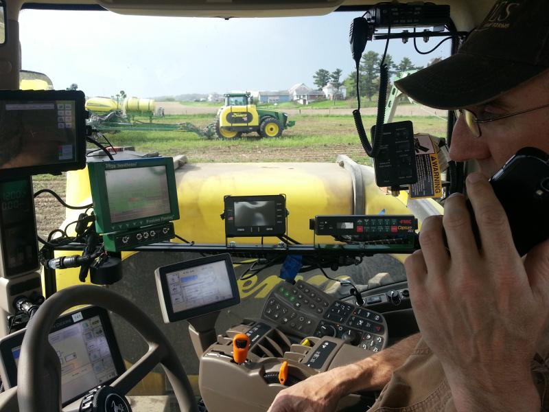 Farmer Jim Sladek uses various smart applications and GPS technology during the planting season