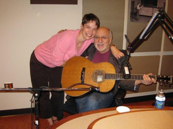 Charity Nebbe with Peter Yarrow at Michigan Radio's studios in 2009.