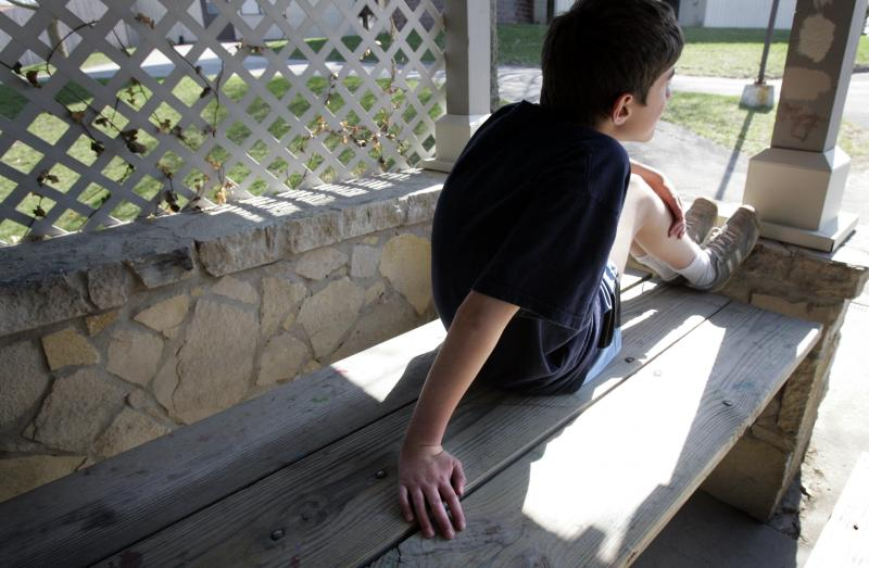 a child at Tanager Place in Cedar Rapids