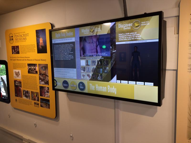 touch screens featuring research being conducted at the University of Iowa