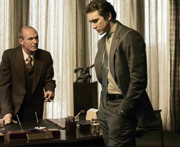 John Bosworth (Toby Huss) and Joe MacMillan (Lee Pace)