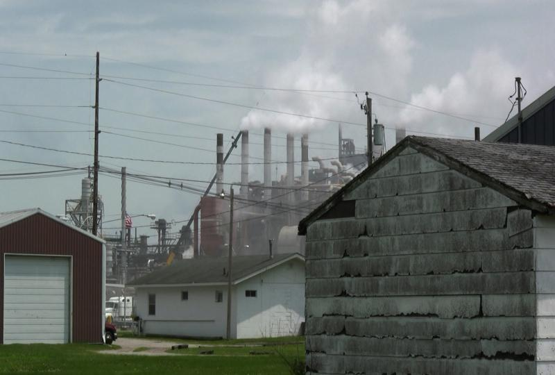 Southend, a Muscatine neighborhood that borders the Grain Processing Corporation and Muscatine Power and Water coal plants