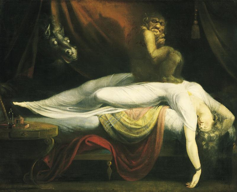 """The Nightmare"" by Henry Fuseli is thought to be a rendition of a condition known as sleep paralysis"