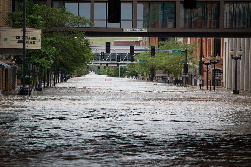 Flooding in downtown Cedar Rapids in 2008