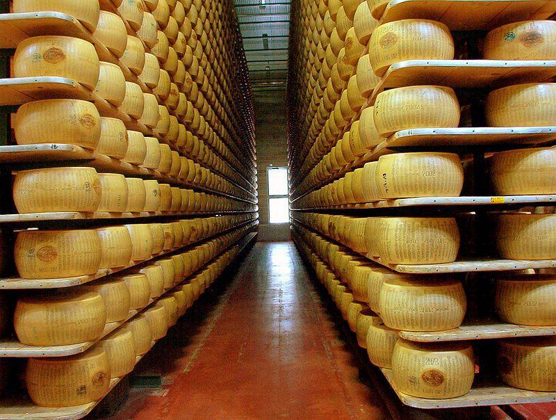 Storeroom for Parmiggiano-Reggiano