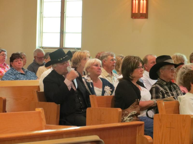 Audience members at Cowboy Church