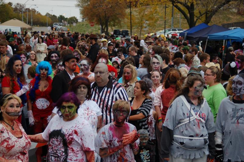 "Des Moines' Fourth Annual ""Zombie Walk"""