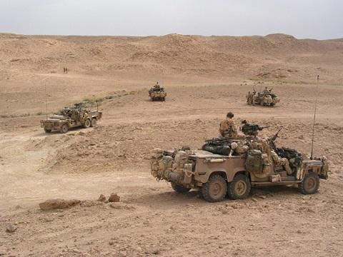 An Australian Special Air Service patrol in Iraq during the 2003 Iraq War