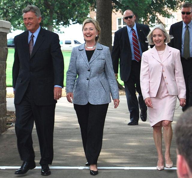 Hilary Clinton is known for her pant suits.