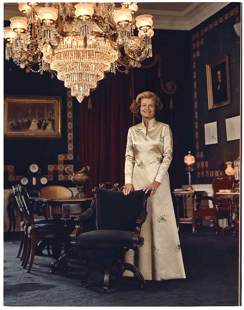 Betty Ford was known for wearing American made clothing.