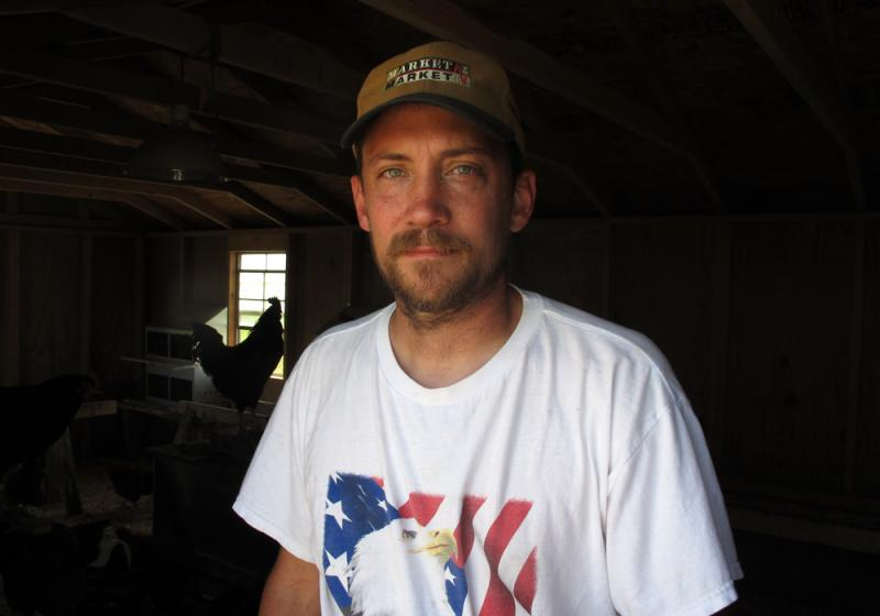 The poultry farm Dan Hromas started near York, Neb., since returning from military service in Iraq, has helped him re-integrate in to civilian life.