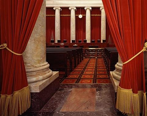 Interior of the U.S. Supreme Court, Washington, D.C.