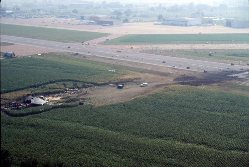 Another aerial shot shows the deadly path of Flight 232's final seconds