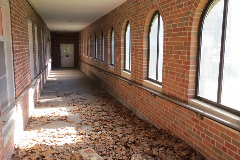 A forgotten corridor where troubled veterans used to walk