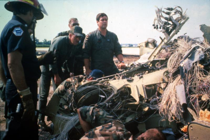 Rescuers search wreckage